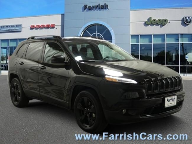 Certified 2016 Jeep Cherokee Altitude black interior 16578 miles Stock PC11682 VIN 1C4PJMCS8G