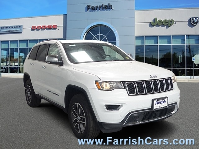 New 2018 Jeep Grand Cherokee LIMITED 4X4 bright white clearcoat exterior black