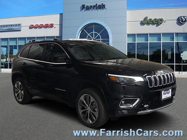 New 2019 Jeep Cherokee OVERLAND 4X4 diamond black crystal pearlcoat exterior black interior Stock