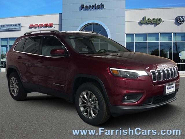 New 2019 Jeep Cherokee LATITUDE PLUS 4X4 velvet exterior black interior Stock 33167 VIN 1C4PJM