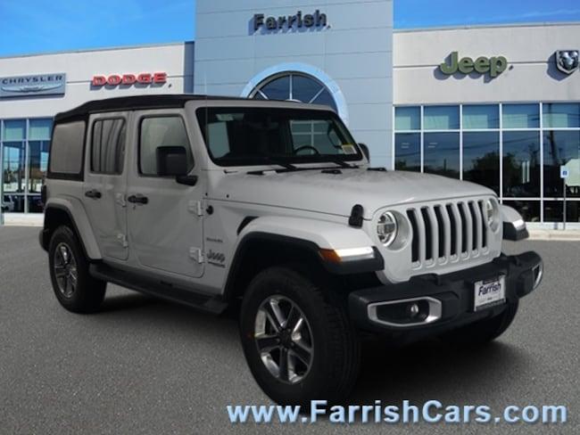 New 2018 Jeep Wrangler UNLIMITED SAHARA 4X4 black interior 0 miles Stock 33104 VIN 1C4HJXEG7JW