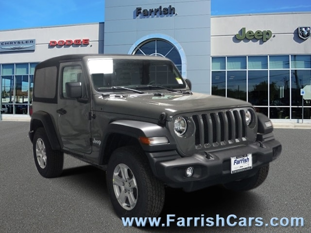New 2018 Jeep Wrangler SPORT S 4X4 gray clearcoat exterior black interior Sto