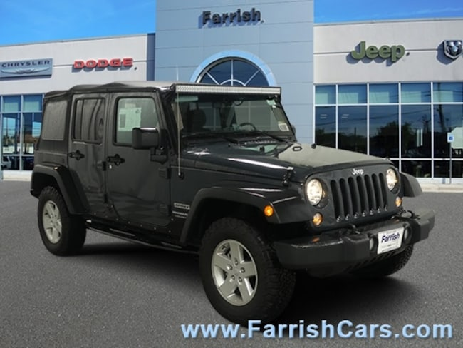 New 2018 Jeep Wrangler Unlimited WRANGLER JK UNLIMITED SPORT S 4X4 black interior 0 miles Stock