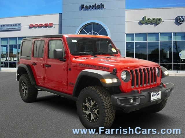 New 2019 Jeep Wrangler UNLIMITED RUBICON 4X4 firecracker red exterior black interior 0 miles Sto