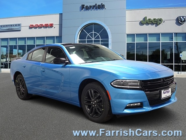 New 2019 Dodge Charger SXT AWD blue pearl exterior black interior 0 miles Stock D9309 VIN 2C3