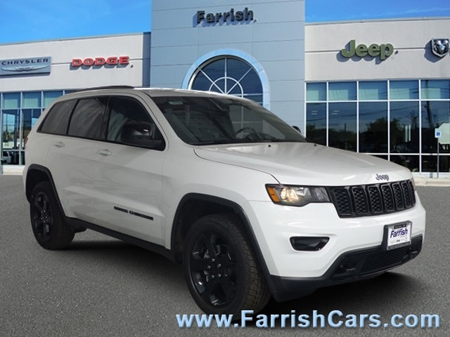 New 2019 Jeep Grand Cherokee UPLAND 4X4 bright white clearcoat exterior black interior Stock 331