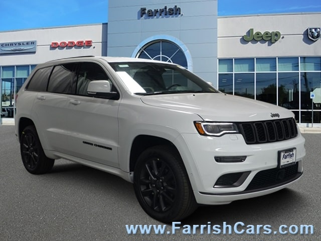 New 2019 Jeep Grand Cherokee HIGH ALTITUDE 4X4 bright white clearcoat exterior black interior 0 m