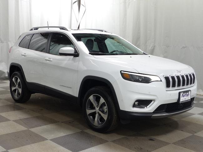 Used 2019 Jeep Cherokee Limited black interior 118 miles Stock 33540A VIN 1C4PJMDN0KD345016