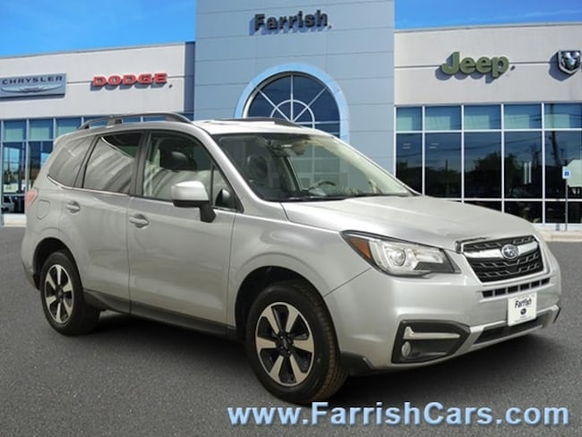 Used 2018 Subaru Forester Limited black interior 4527 miles Stock PSR1309 VIN JF2SJARC6JH5476