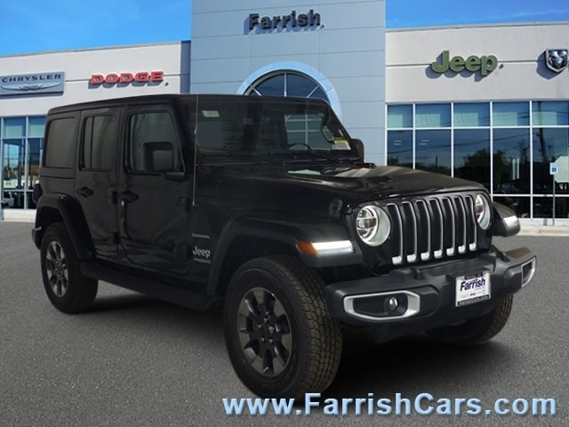 New 2018 Jeep Wrangler UNLIMITED SAHARA 4X4 black clearcoat exterior black interior Stock 33262