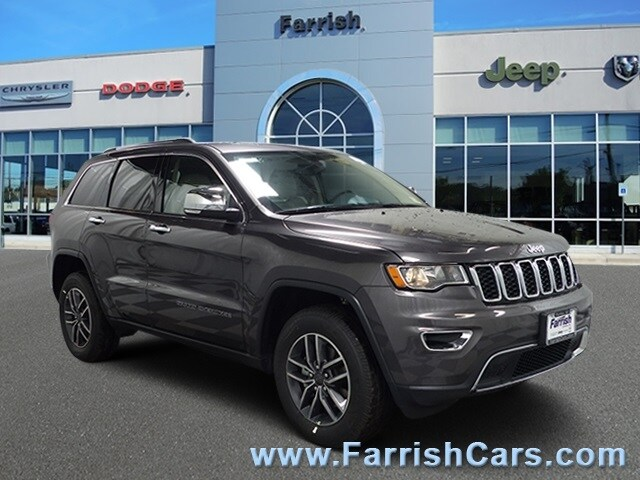 New 2019 Jeep Grand Cherokee LIMITED 4X4 crystal metallic exterior black interior 0 miles Stock