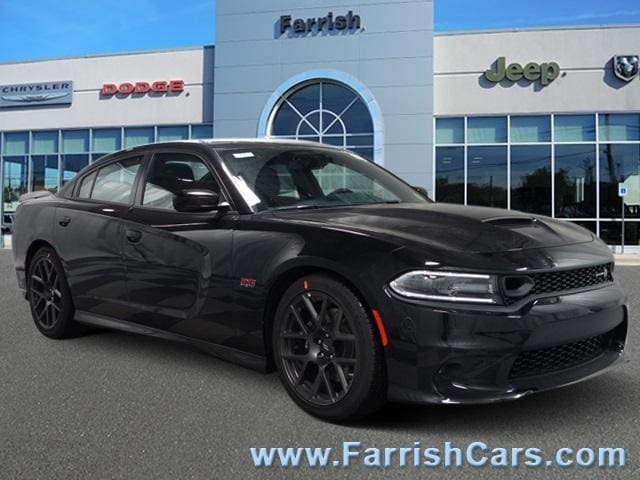 New 2019 Dodge Charger SCAT PACK RWD pitch black clearcoat exterior black interior 0 miles Stock