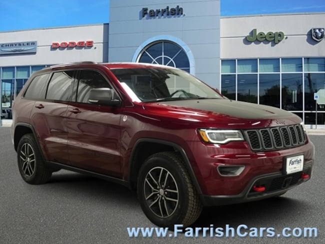 Used 2017 Jeep Grand Cherokee Trailhawk ruby redblack interior 7565 miles Stock 33461A VIN 1