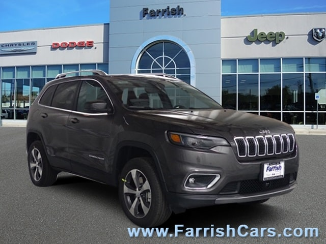 New 2019 Jeep Cherokee LIMITED 4X4 crystal metallic exterior black interior Stock 32979 VIN 1C