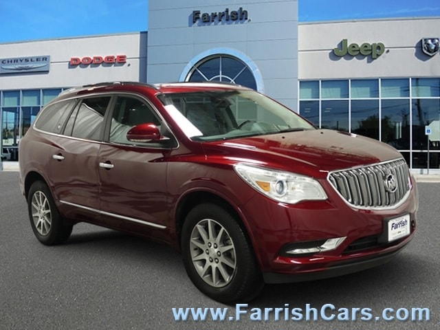 Used 2017 Buick Enclave Convenience crimson red tintcoat exterior light titanium interior 7998 m