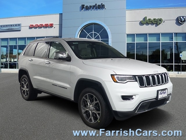 New 2019 Jeep Grand Cherokee LIMITED 4X4 bright white clearcoat exterior black interior 0 miles