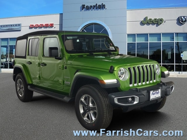 New 2018 Jeep Wrangler UNLIMITED SAHARA 4X4 mojito exterior black interior 0 miles Stock 33261