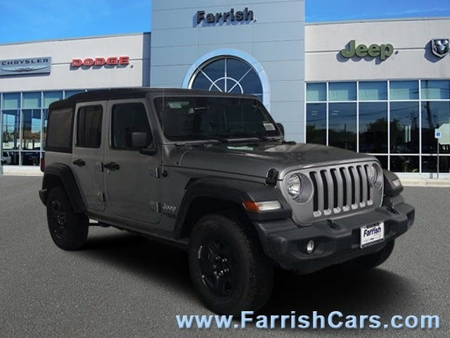 New 2018 Jeep Wrangler UNLIMITED SPORT 4X4 billet silver metallic exterior black interior 0 miles