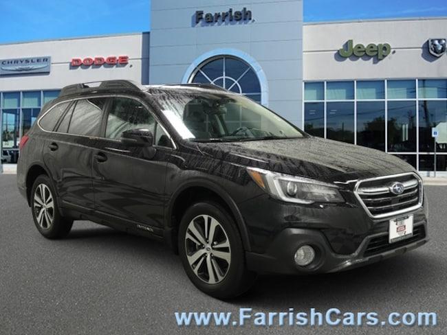 Used 2018 Subaru Outback Limited slate black interior 9435 miles Stock PR11700 VIN 4S4BSANC6J