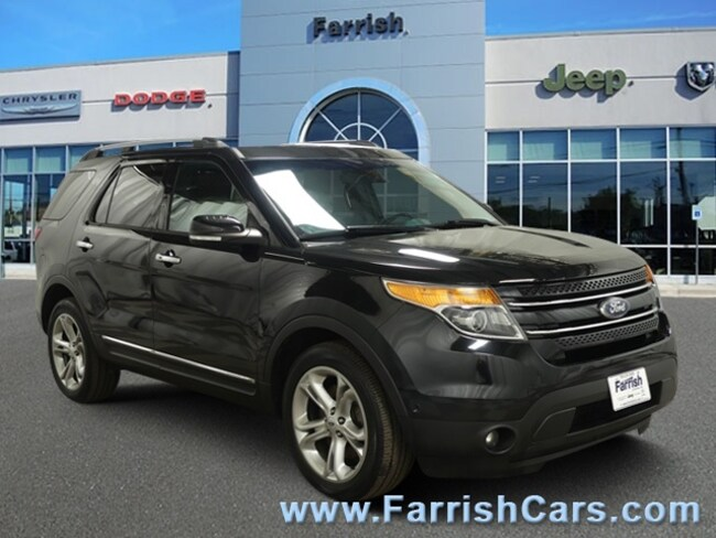 Used 2014 Ford Explorer Limited medium light stone interior 105321 miles Stock D8933A VIN 1FM