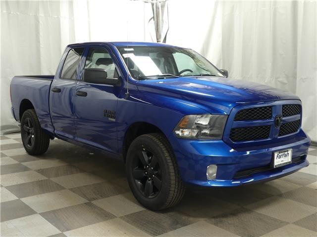New 2019 Ram 1500 CLASSIC EXPRESS QUAD CAB 4X4 64 BOX blue streak exterior black interior 0 mile