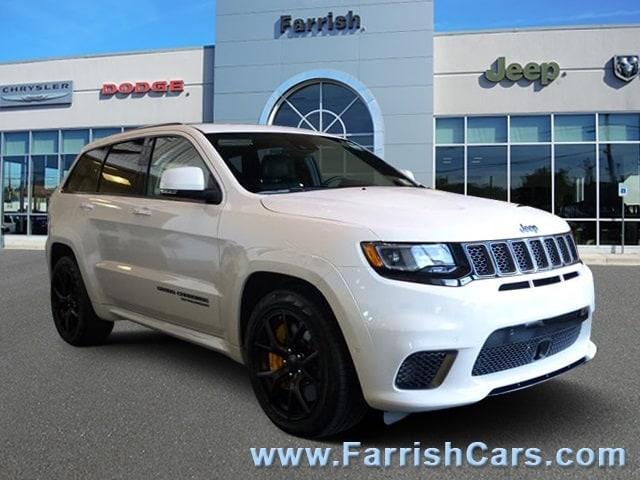 New 2018 Jeep Grand Cherokee TRACKHAWK 4X4 ivory exterior black interior Stock 32055 VIN 1C4RJ