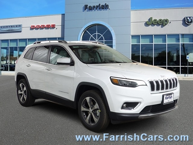 New 2019 Jeep Cherokee LIMITED 4X4 bright white clearcoat exterior ski graybl