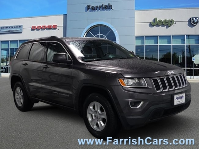 Certified 2015 Jeep Grand Cherokee Laredo black interior 37895 miles Stock 32649A VIN 1C4RJFA