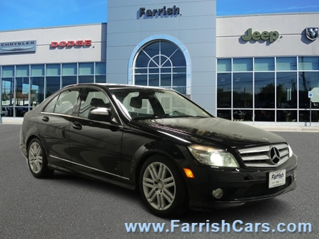 Used 2009 Mercedes C-Class 30L Sport black interior 93621 miles Stock 33243A VIN WDDGF81X39F