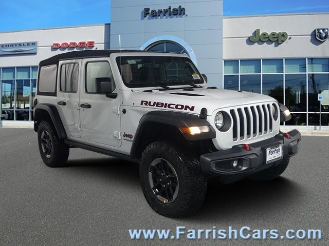 New 2018 Jeep Wrangler UNLIMITED RUBICON 4X4 bright white clearcoat exterior black interior Stock