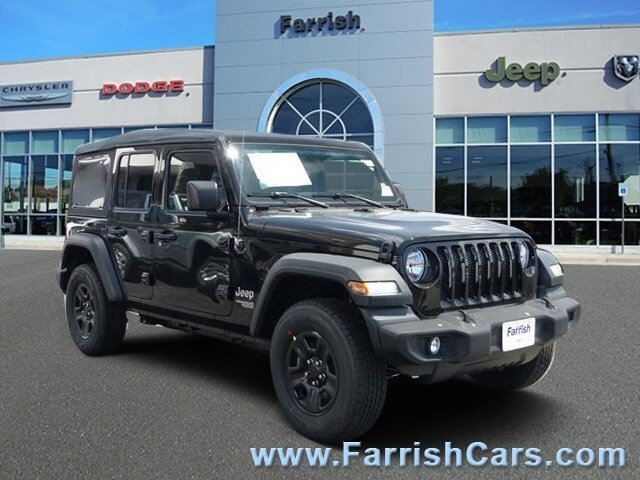 New 2018 Jeep Wrangler UNLIMITED SPORT 4X4 black clearcoat exterior black interior Stock 32446
