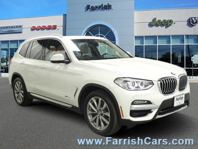 Used 2018 BMW X3 xDrive30i cognac interior 3036 miles Stock S19030A VIN 5UXTR9C52JLC73179