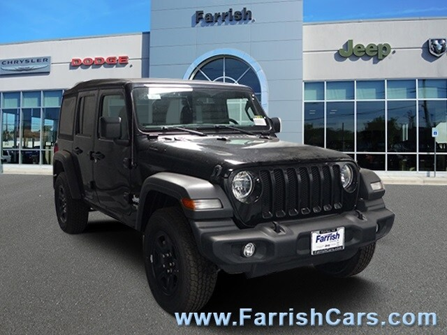 New 2018 Jeep Wrangler UNLIMITED SPORT 4X4 black clearcoat exterior black interior Stock 32916