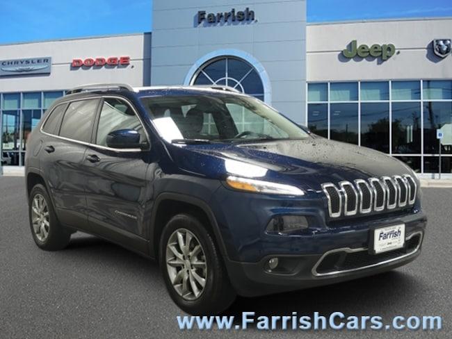 Certified 2018 Jeep Cherokee Limited black interior 23310 miles Stock 33002A VIN 1C4PJMDB4JD5