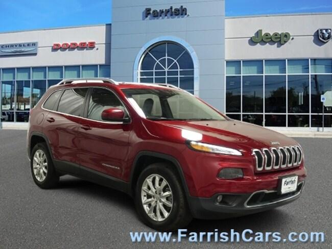 Used 2016 Jeep Cherokee Limited black interior 46992 miles Stock 32550A VIN 1C4PJMDSXGW170341