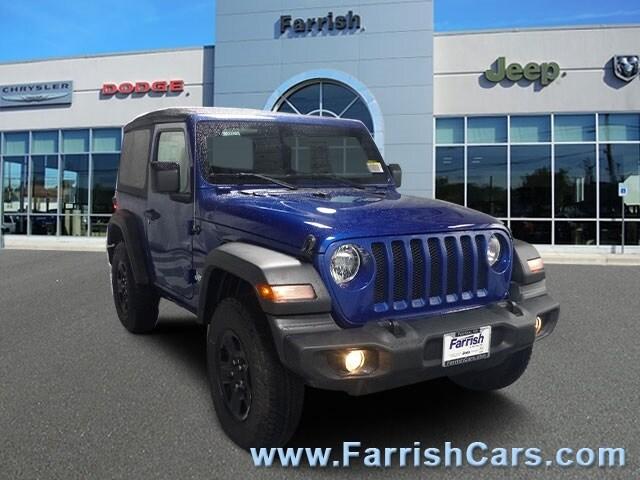 New 2018 Jeep Wrangler SPORT 4X4 ocean blue metallic exterior black interior Stock 32973 VIN 1