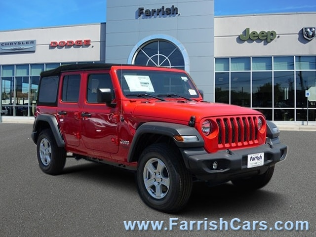New 2018 Jeep Wrangler UNLIMITED SPORT S 4X4 firecracker red exterior black in