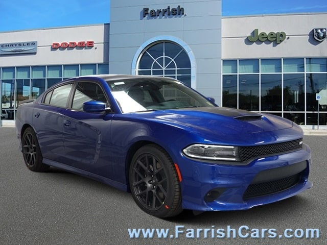 New 2019 Dodge Charger RT RWD indigo blue exterior black interior 0 miles Stock D9307 VIN 2C