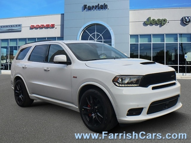 New 2018 Dodge Durango SRT AWD white knuckle exterior black interior Stock D8880 VIN 1C4SDJGJ2