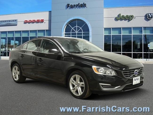 Used 2014 Volvo S60 T5 off-black interior 38536 miles Stock 33214A VIN YV1612FS5E1287178