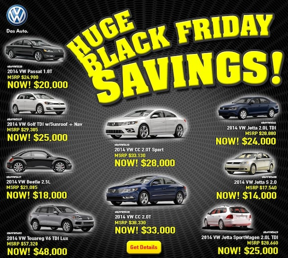 Fathers And Sons VW >> Black Friday Blowout Specials Fathers Sons Volkswagen