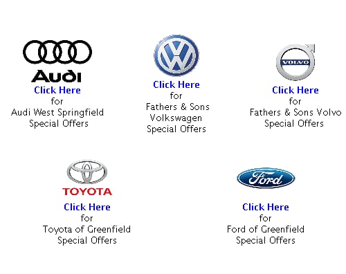 Toyota Of Greenfield >> New Vehicle Specials Fathers Sons Dealer Group