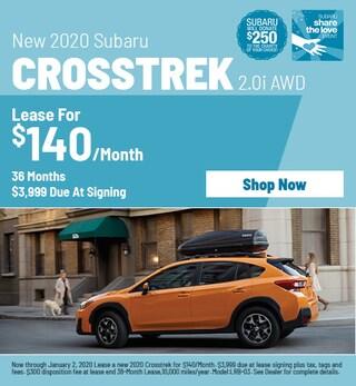New 2020 Subaru Crosstrek - December Special