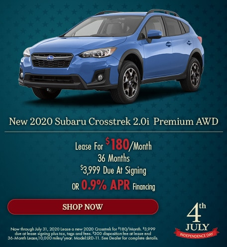 July - 2020 Subaru Crosstrek