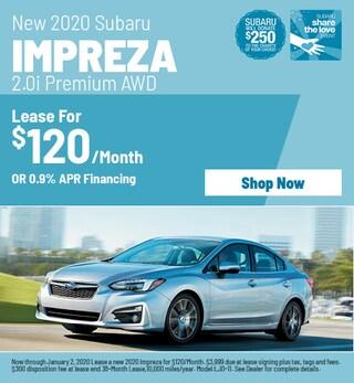 New 2020 Subaru Impreza - December Special