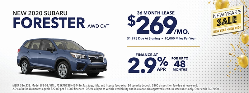 2020 Subaru Forester Special Offers!