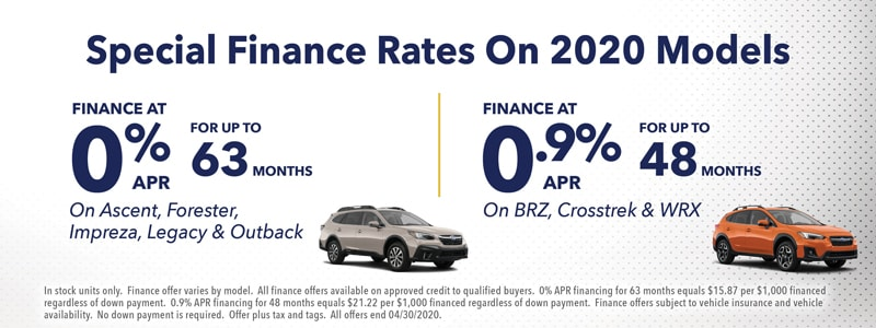 NEW Special Finance Rates on 2020 Models