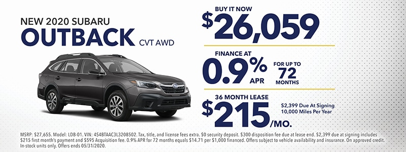 2020 Outback Special Offers!