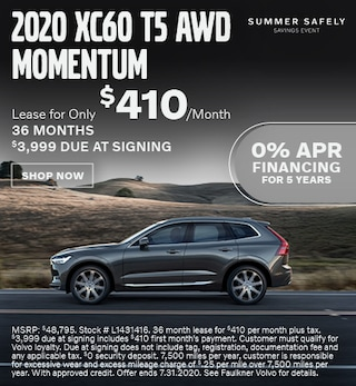 New 2020 Volvo XC60 T5 AWD Momentum - July Special