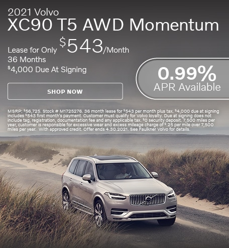 2021 Volvo XC90 T5 AWD Momentum - April Offer